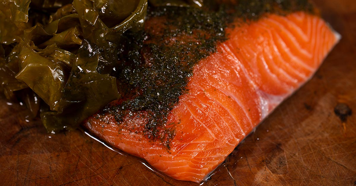Seaweed Cured Salmon